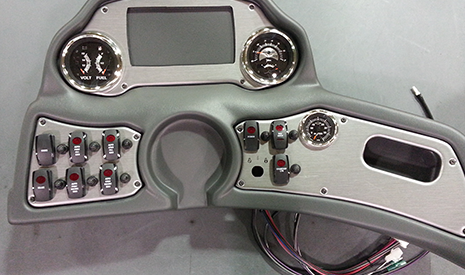 Bass Boat Instrument Panel